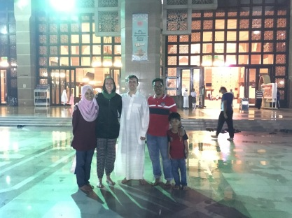 Posing at the Iron Mosque with the best tour guides.