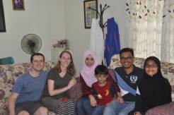 Our lovely hosts in Putrajaya- Ali, Sharifa, and their adorable son Arif.