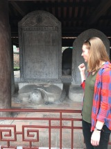 At the Temple of Literature in Hanoi, a successful PhD candidate was commemorated with a turtle stelae. I hate those turtles....