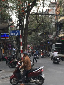Traffic in Hanoi- not as bad as HCMC!