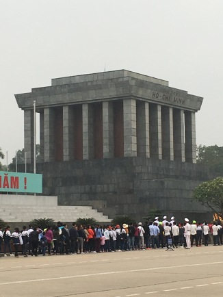 Here's the mausoleum of Ho Chi Mihn. Lenin would be proud.