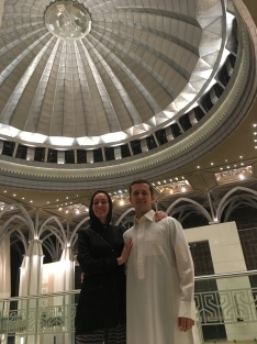 We're beneath the main dome of the Iron Mosque.