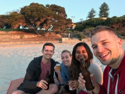 Beers on Cottesloe Beach with the best hosts ever. A pretty sweet evening.