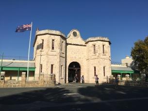 The front gates of Fremantle Prison.