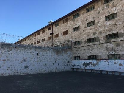 The prison yard. It wasn't too bad.