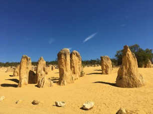 The Pinnacles rock formations.
