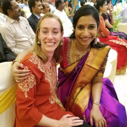 Me and Bargavi- her sari was to die for.