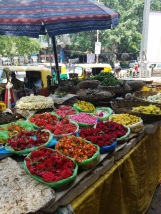 A flower stall at Ghandi Bazar. This was the best smelling Asian Market I have EVER encountered.