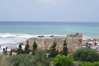 The Byzantine era walls of Byblos city.