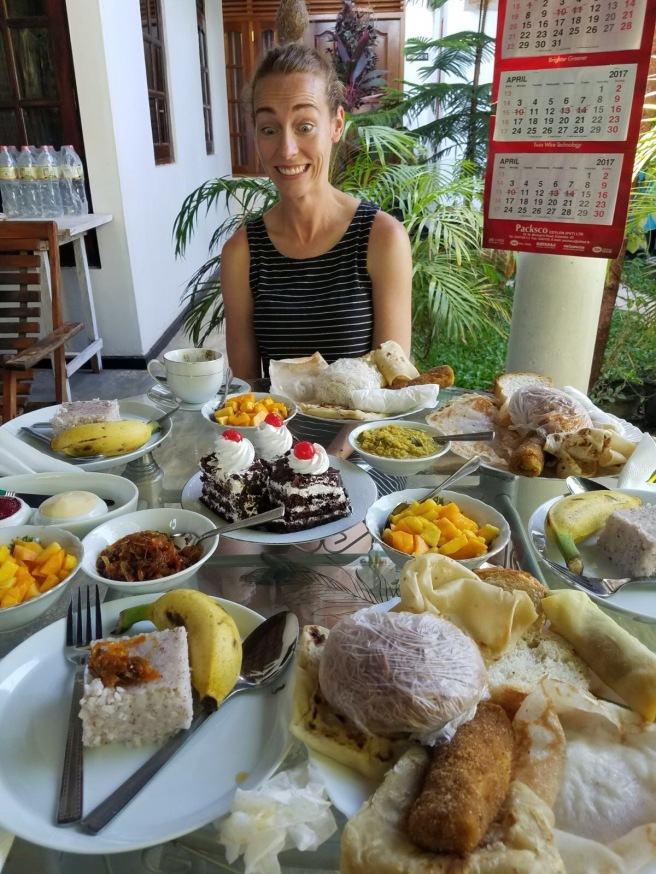 Breakfast at the Panorama Guesthouse. Yep, its a lot of food.