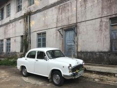 An old car inside Madikeri fort.