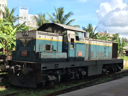 A train parked at Maradana Station in Colombo.