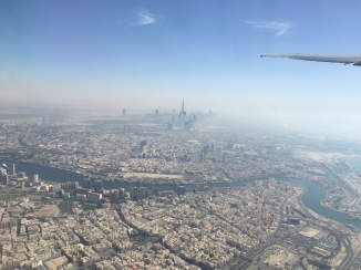 Dubai from the air. Yeah, now I've seen the Burj Khalifa, I don't need to go to Dubai.