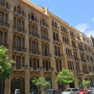 Some of the restored buildings in downtown Beirut.