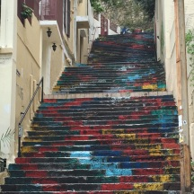 The Mar Mikhael neighborhood has several colorful stairways- very San Francisco...