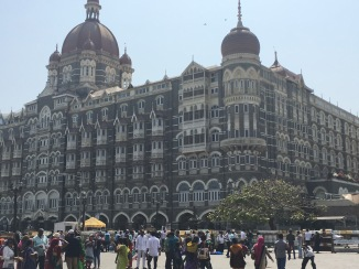 The front of the Taj Hotel. You can't really see the security but it was intense.
