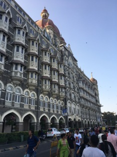 A side view of the Taj Hotel.