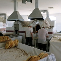 The ovens in the bakery. Quite the site.
