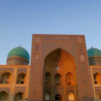 Mir-i-Arab Madrasah at night. It was pretty magical.