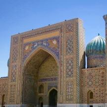 My favorite madrasah in Registan Square - Sher-Dor Madrasah.