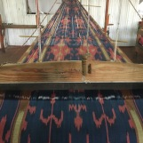 Ikat weaving. These looms are incredible!