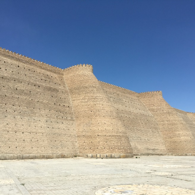 The walls of the Arc Fortress in Bukhara. This thing is definitely imposing.