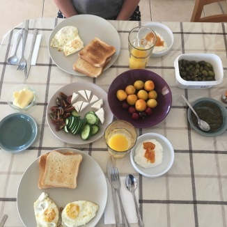 I was obsessed with making Cypriot brekky.