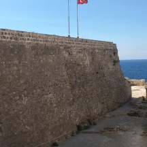 The walls of Kyrenia Castle.