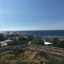 A view of the port in Kyrenia from the castle.