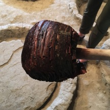 After use, the fermentation vessels are cleaned with the bark of a cherry tree.