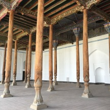 The prayer hall at the Kokand Juma Mosque. Its a really unusual mosque design.