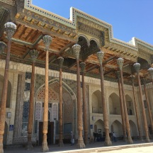 The main mosque in the Arc Fortress. It's got the same wooden pillar design as the mosques in Fergana.