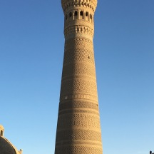 The Kalyan minaret in Bukhara. It is the only structure to survive Genghis Khan's destruction.