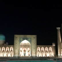 Registan Square at night. This doesn't do justice!!!