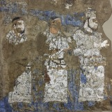 A well preserved panel of the Afrosaib fresco.