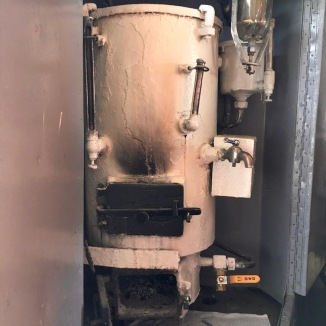 My favorite death trap yet. This wood-fire water heater ensured I had piping hot beverages (and slightly singed fingertips) at all times.