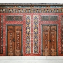 Painted wall panels from a merchant's home in Aleppo.