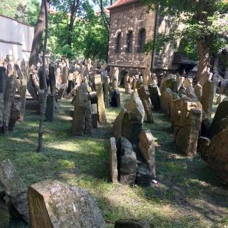 The Jewish cemetery in Prague.
