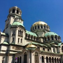 The Russian Orthodox 'Church of St Nicholas the Miracle-Maker' in Sofia.