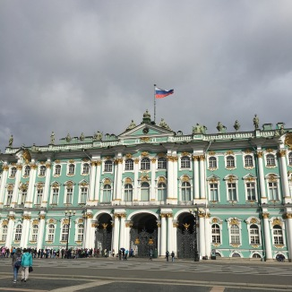 The exterior of the Winter Palace. Those lucky Romanovs...