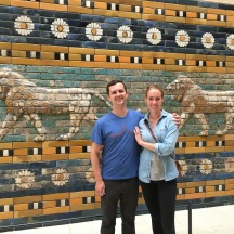Jeff and I with the Gates of Ishtar. I've named the two lions behind us Kip and Kevin.
