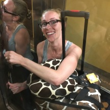 Our Airbnb had a tiny glass elevator big enough for an operator (i.e. me) and several suitcases if you Tetris it well. This was elevator round 3 of 5.