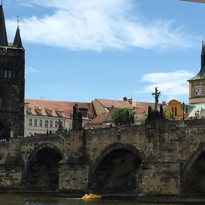 The adorable Charles Bridge in Prague.