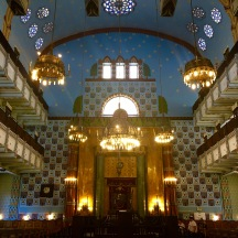The interior is fabulous and very Art Nouveau. I think it's my favorite synagogue of the trip.