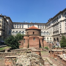 The Church of St George. Built by the Romans in the 4th century, this is the oldest building in Sofia.