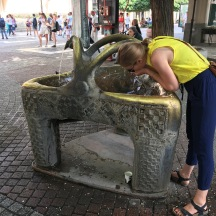 I can't resist a public fountain.