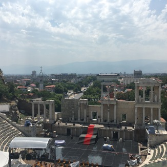 The Roman theater from ancient Plovdiv. Quite the views.
