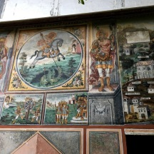 Here's one of the better preserved exterior frescos.