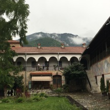 The view from the inner courtyard of the monastery complex.
