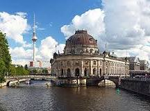 A view of Museum Island from the river Spree.